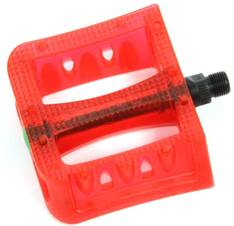 Primo Stricker Plastic Pedals -Clear Red