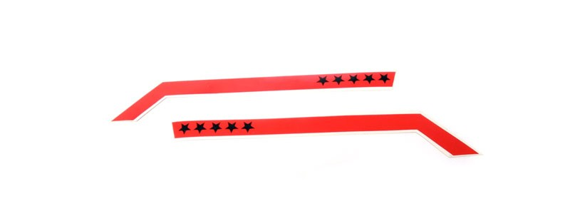 General 5 Star Stripes Decal