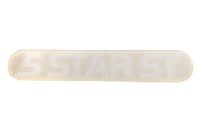 General 5 Star Tank Decal -White