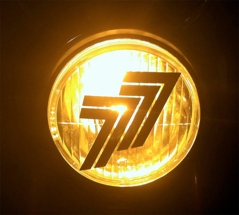 77 Headlight Sticker