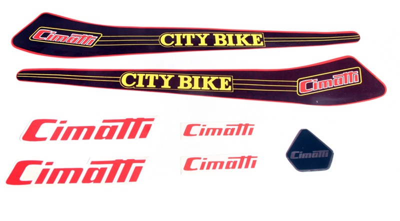 Cimatti City Bike OEM Decal Sticker Set