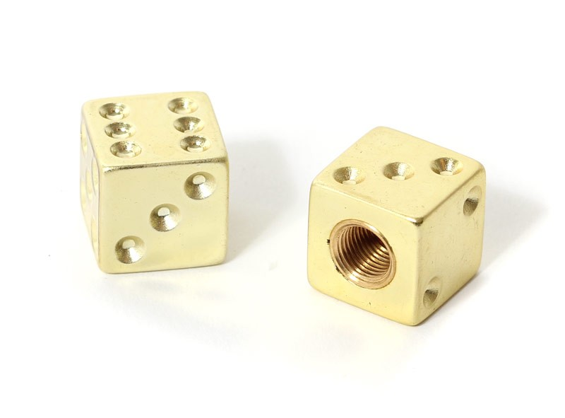 Dice Valve Caps -Gold