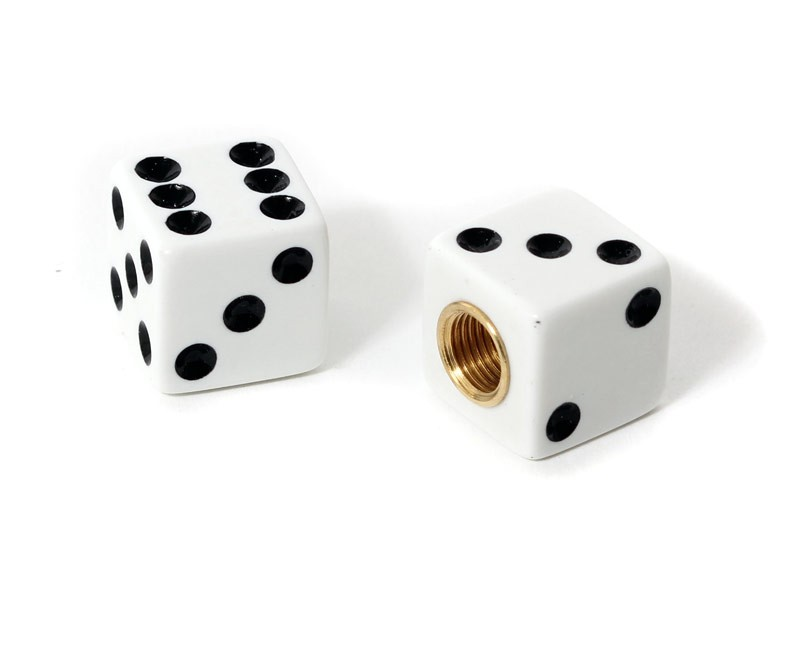 Dice Valve Caps -White