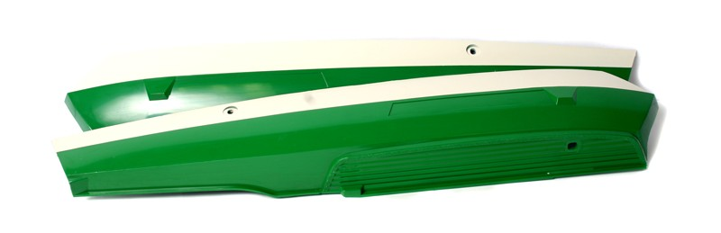 Peugeot & Sachs Green and Off White Side Cover Set