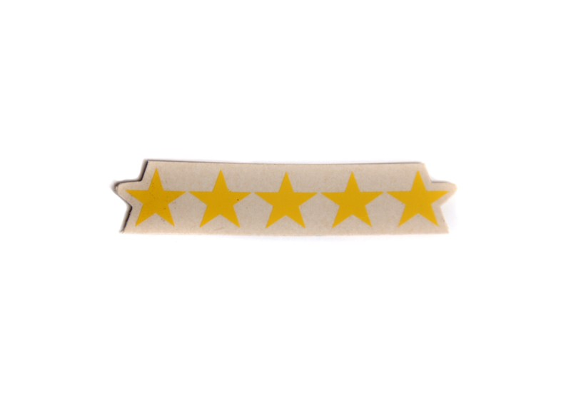 General 5 Stars Decal -Yellow