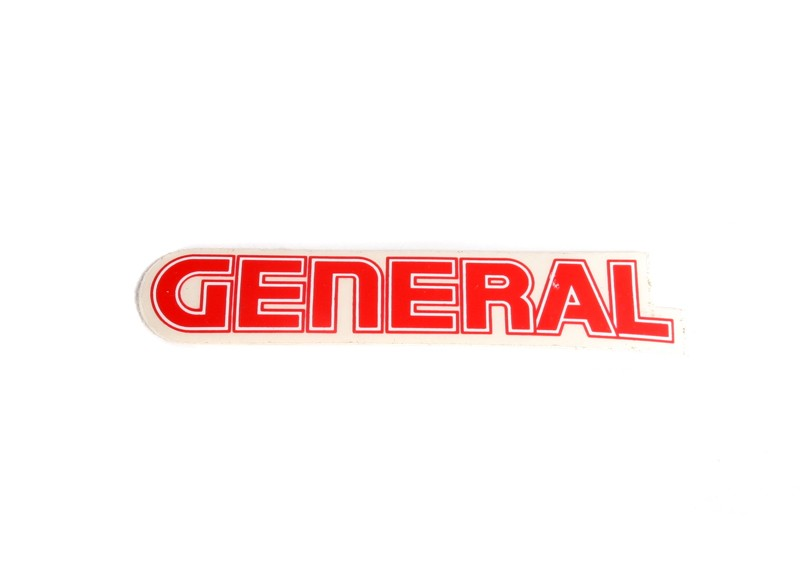 General 5 Star Tank Decal Large