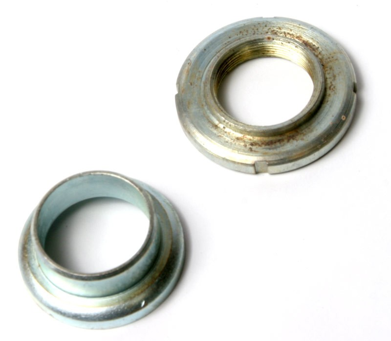 Motobecane Bearing Cup and Locking Nut