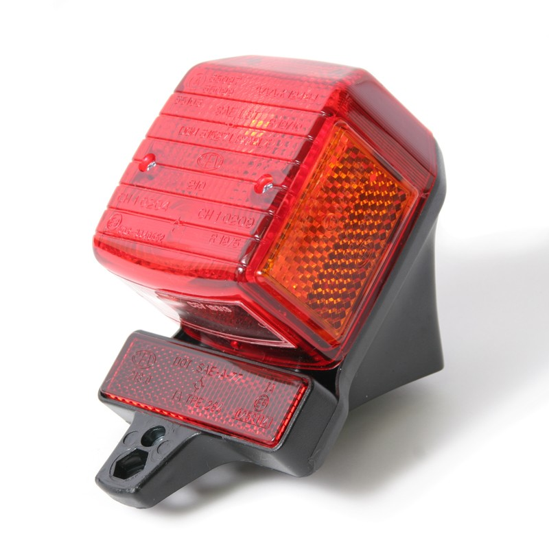 Tomos Minarelli Morini NOS CEV Tailight Assembly with Orange Reflectors