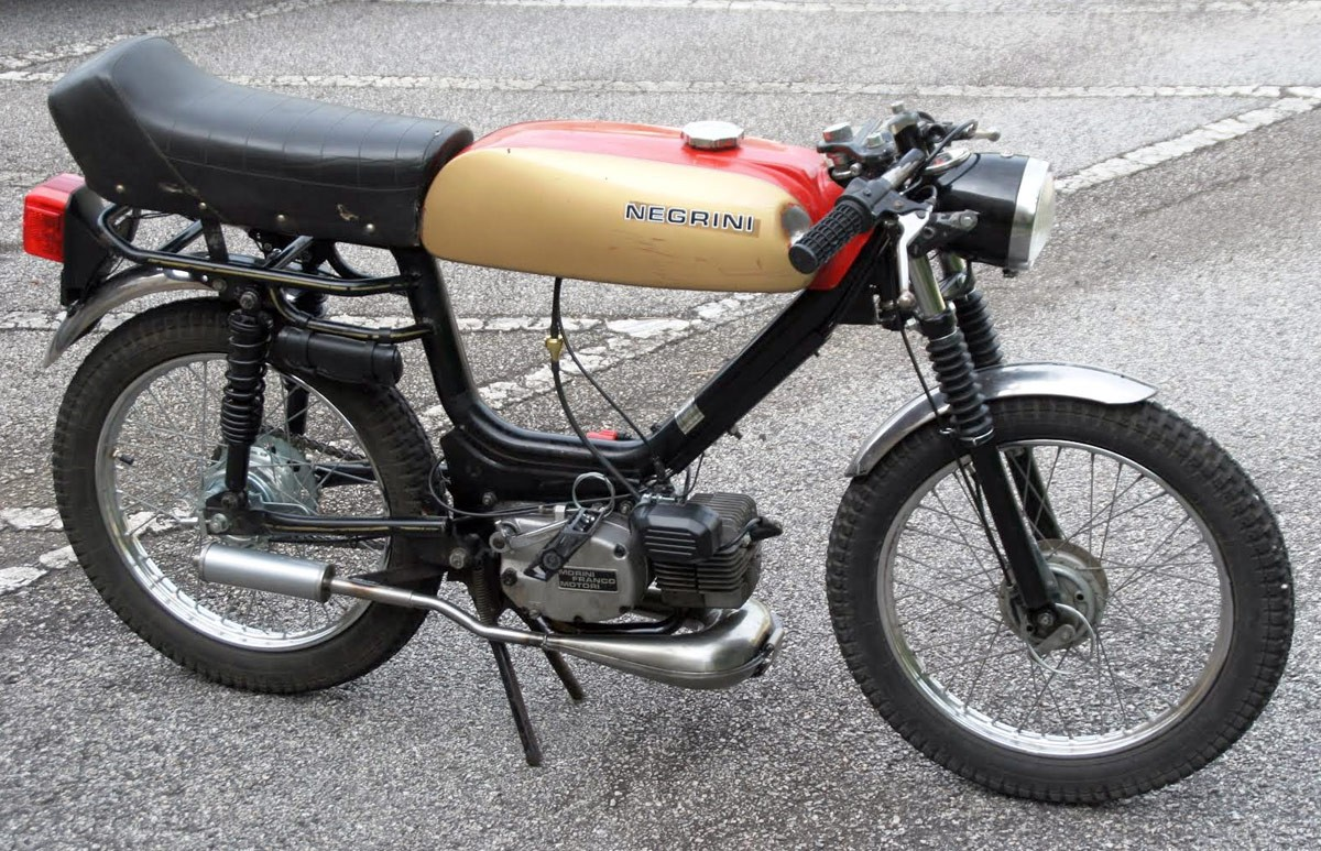 negrini top tank cafe racer moped - mopeds