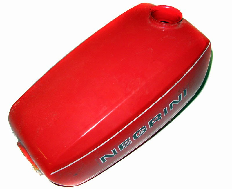 Negrini Moped Gas Tank -Red
