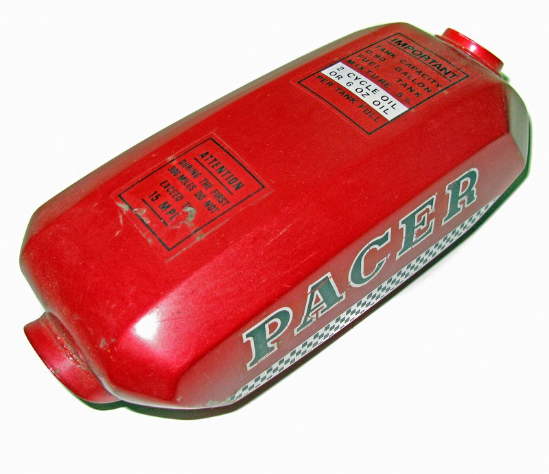 Pacer Moped Gas Tank -Red