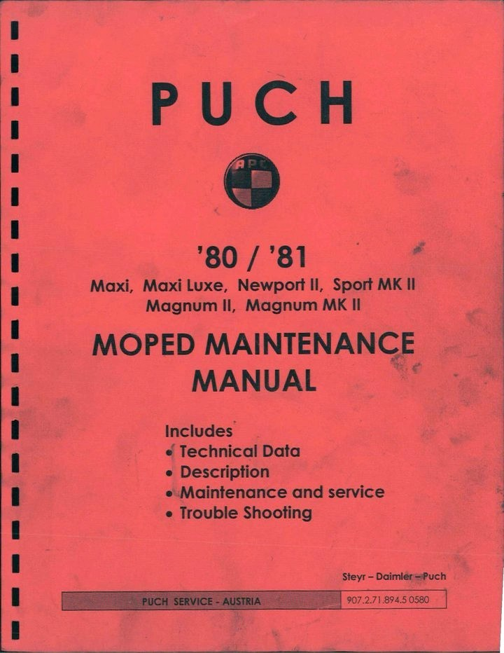 Puch 1980/81 Moped Service Manual