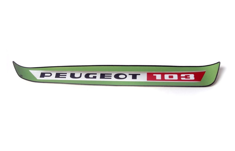 Peugeot 103 Gas Tank Sticker -Green