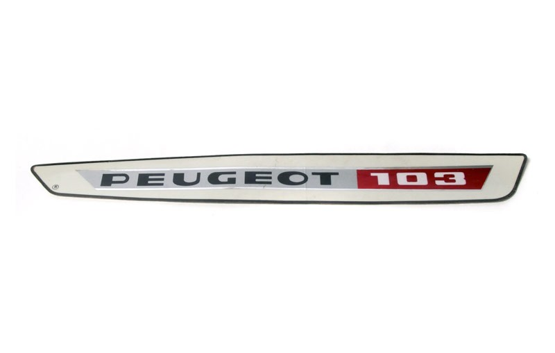 Peugeot 103 Gas Tank Sticker -White