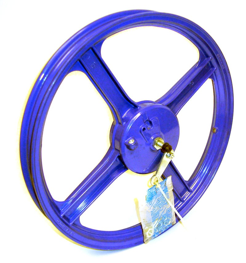 Vespa Piaggio Ciao Bravo Moped Purple Front Wheel