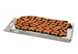 KMC Pedal Chain Orange/Black
