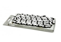 KMC Pedal Chain White/Black