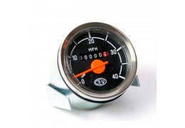 CEV Black & Orange & Silver Speedometer