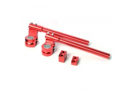 Aluminum Clip-On Riser Bars -Red