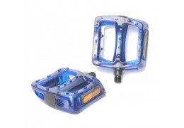 77 House Brand Plastic Pedal -Clear Blue