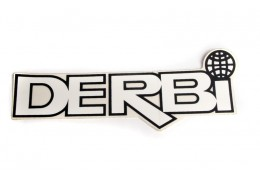 Derbi Sticker with Globe