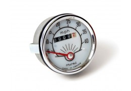 Garelli Huret White and Silver Speedometer
