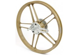 "Gold 17"" Grimeca 5 Star Rear Wheel"