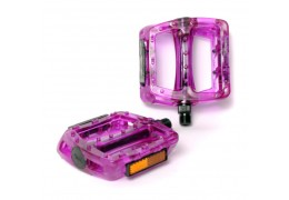 77 House Brand Plastic Pedal -Clear Purple